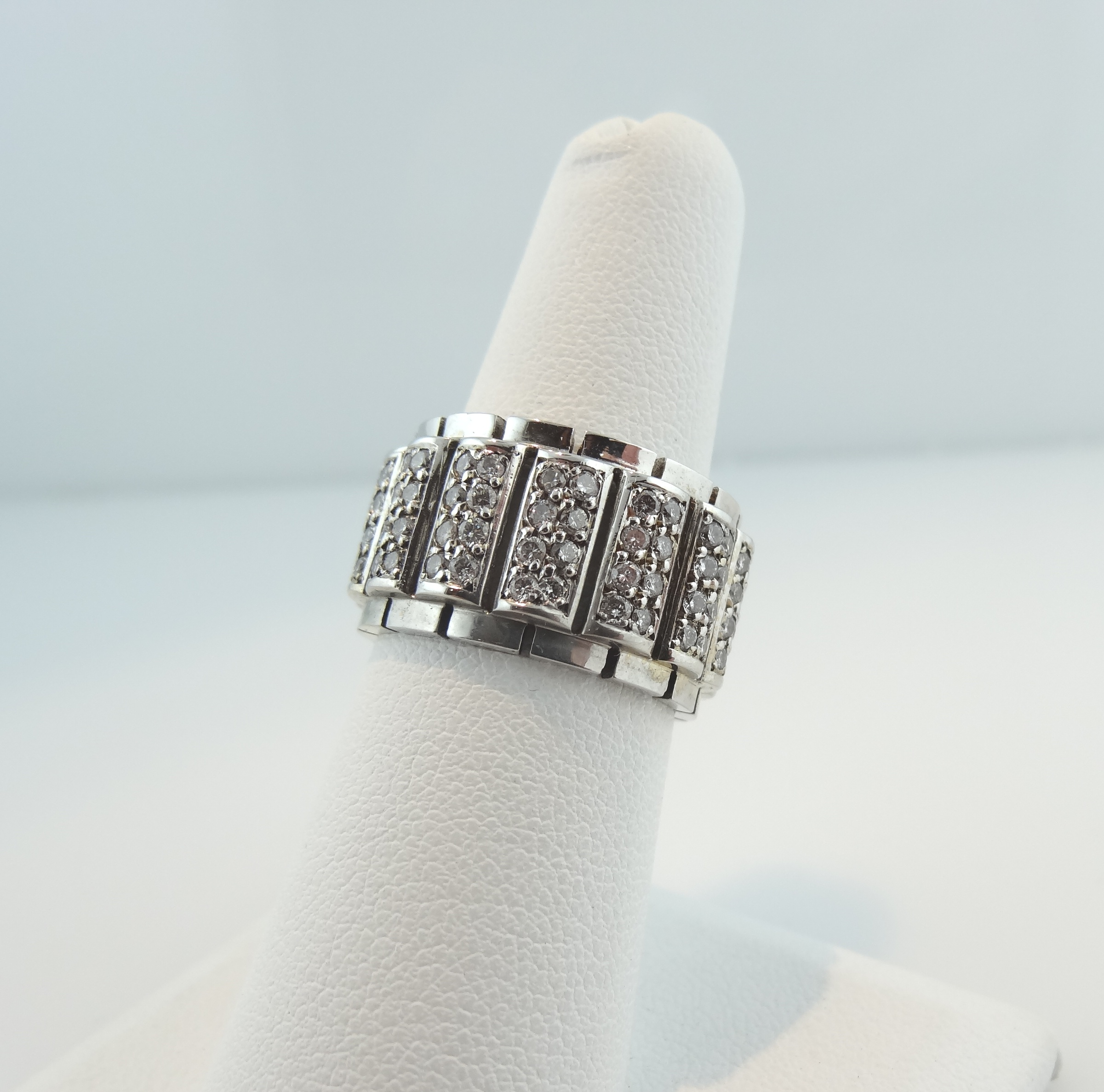 diamond band gold fishtail white prong anniversary eternity bands