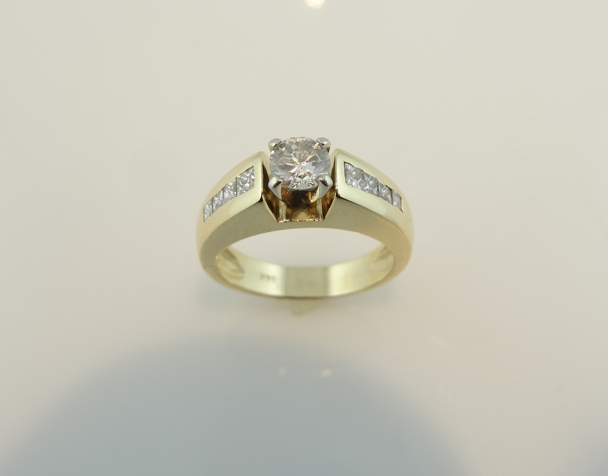 yellow ring engagement diamond white rings pattern gold and