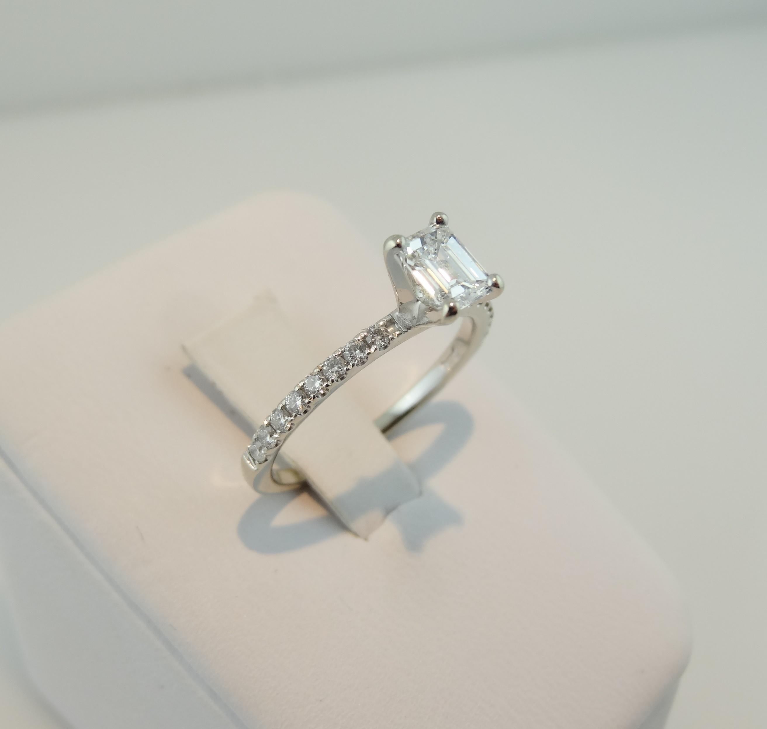 77c41f8b7faa22 2 Carat Emerald Cut Diamond Ring - New Image Ring Aintnoneed.Org